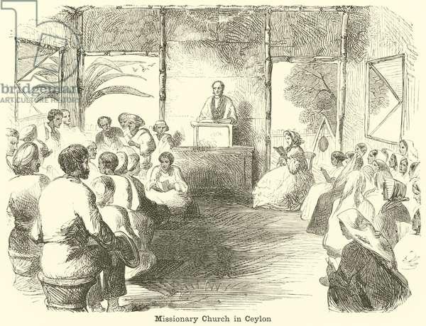 Missionary Church in Ceylon (engraving)