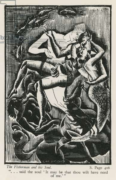 The Fisherman and his Soul (woodblock)