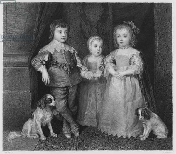 The Three Children of Charles 1st, from the picture in the Royal Collection (engraving)