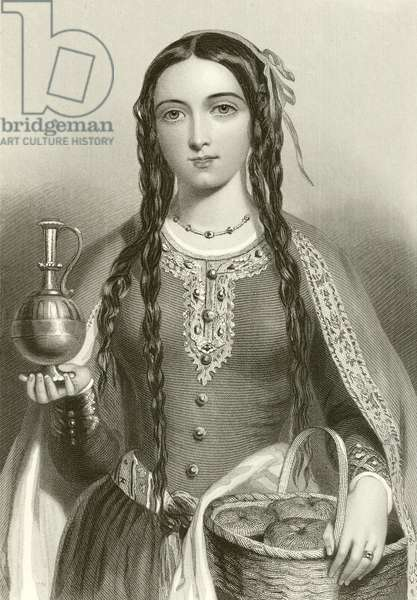 Matilda of Scotland, Queen of king Henry I (engraving)