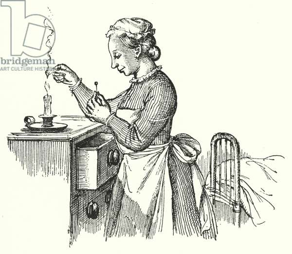 Hans Christian Andersen: The Darning-Needle (litho)