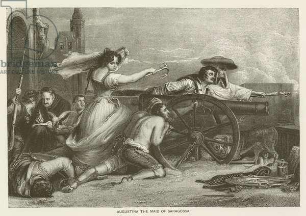 Augustina the maid of Saragossa (engraving)