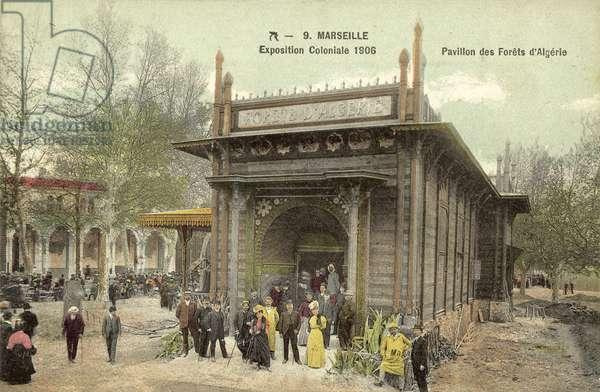 Marseille, Exposition Coloniale 1906, Pavillon Des Forets D'Algerie (colour photo)