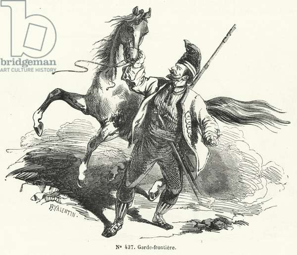 Frontier guard of the Austrian Empire (engraving)