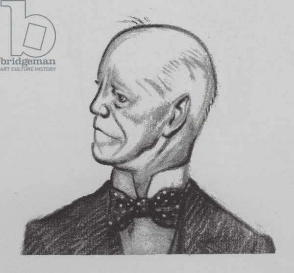John Galsworthy, English novelist and playwright (litho)