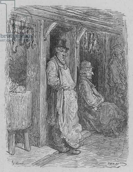 Le Boucher Attendant Sa Pratique (engraving)