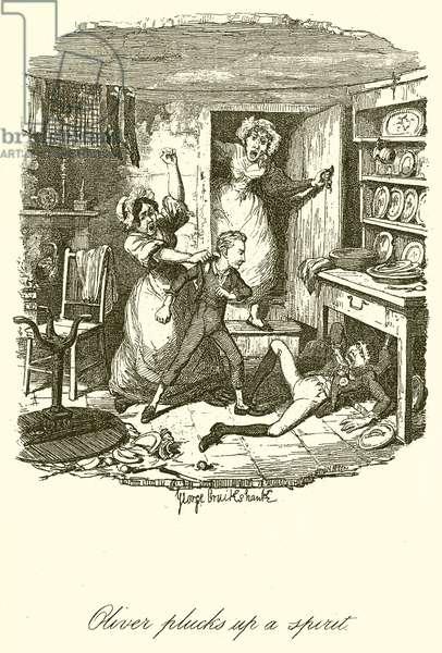 Oliver plucks up a Spirit (engraving)