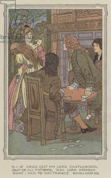 Illustration for The History of Henry Esmond (colour litho)