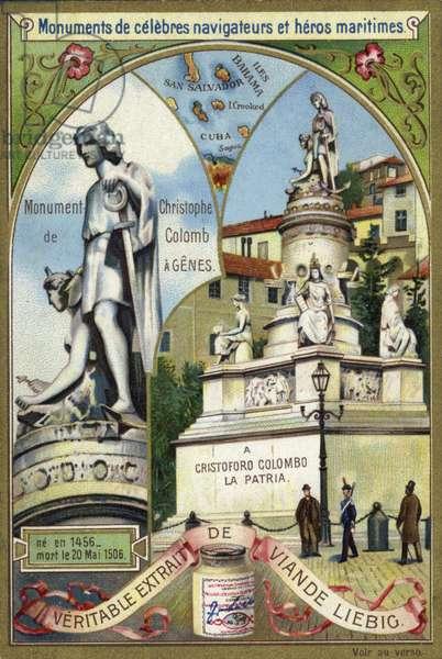 Monument to Christopher Columbus, Genoa (chromolitho)