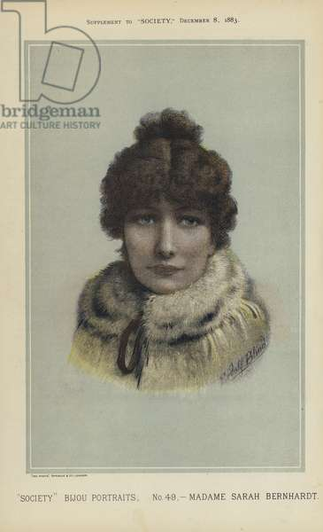 Madame Sarah Bernhardt (colour litho)