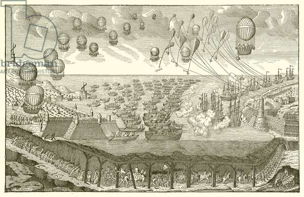 Projected invasion of England by the French (engraving)