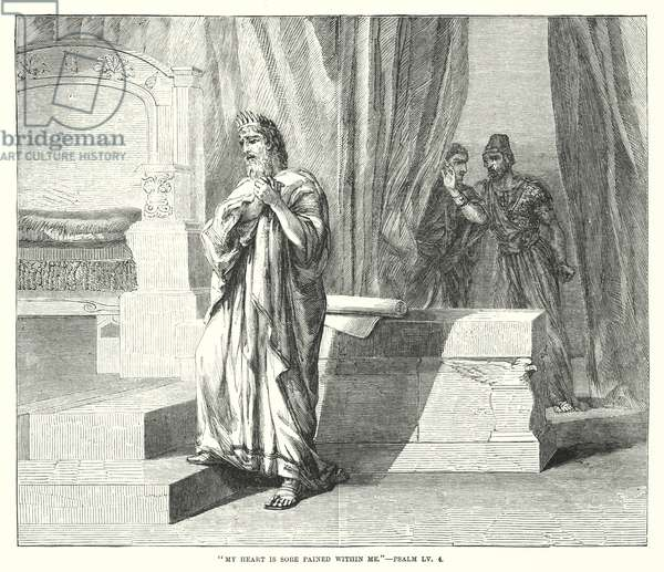 My heart is sore pained within me, Psalm LV, 4 (engraving)