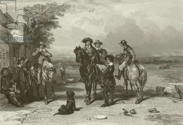 The King on his Journey to the Scots (engraving)