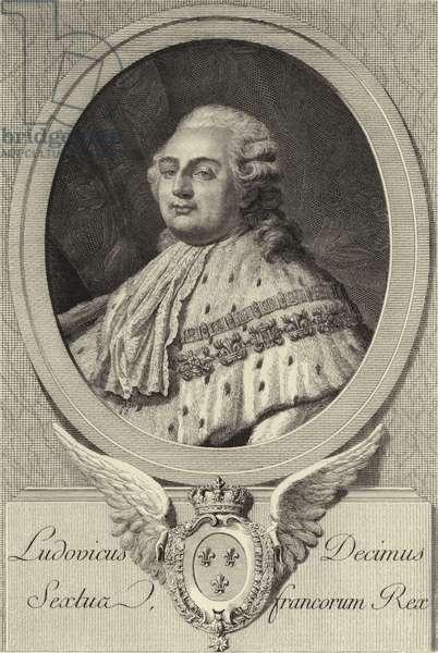 King Louis XVI of France (litho)
