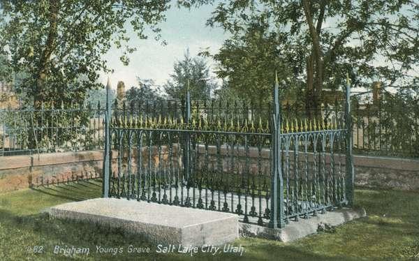 Grave of Brigham Young, Salt Lake City, Utah (colour photo)