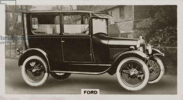 Motor car, Ford (b/w photo)
