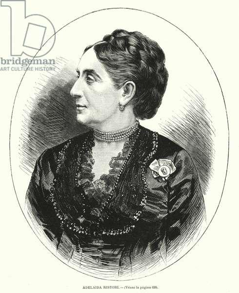 Adelaide Ristori, Italian actress (litho)