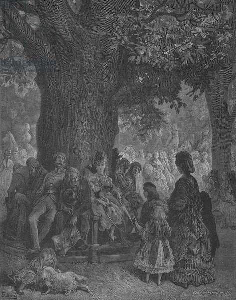 L'Arbre Geant A Kensington (engraving)