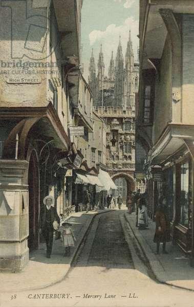 Mercery Lane, Canterbury, Kent (colour photo)