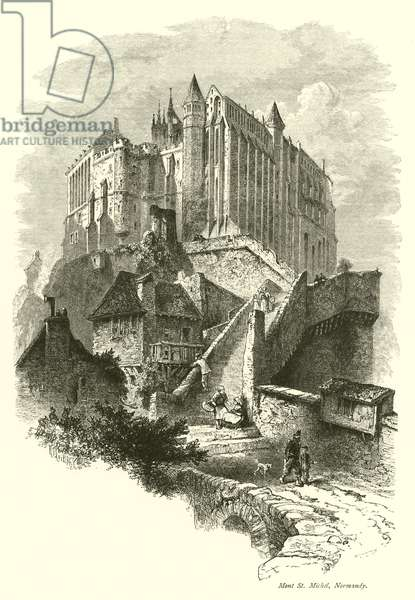 Mont St Michel, Normandy (engraving)
