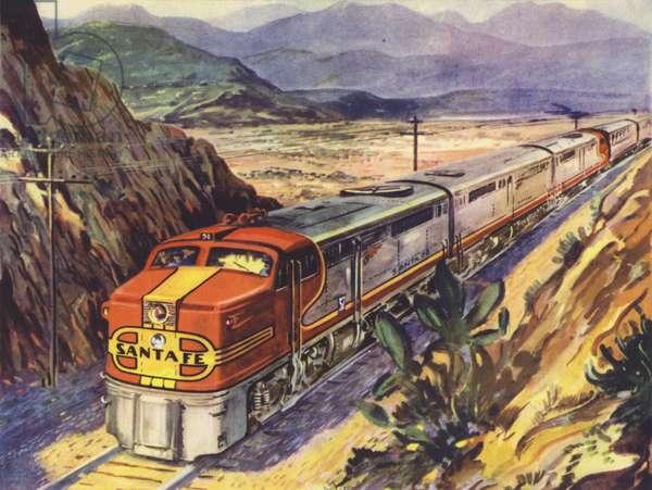 USA Santa Fe, Diesel-Electric (colour litho)