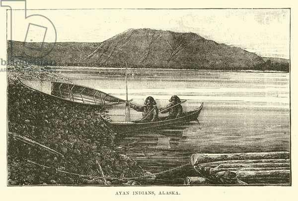 Ayan Indians, Alaska (engraving)