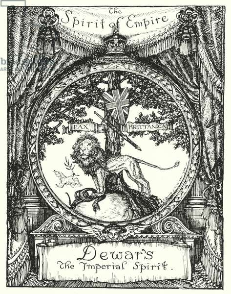 The Spirit of Empire, drawing for an advertisement for Dewar's Scotch whisky (litho)