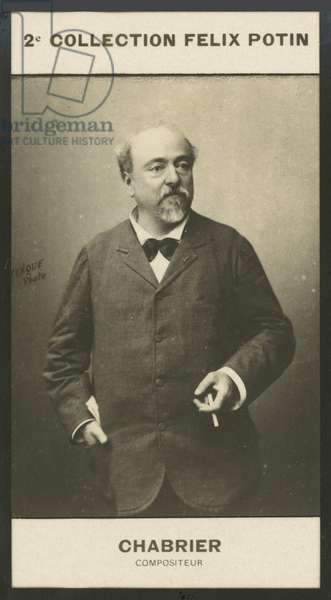 Alexis-Emmanuel Chabrier, Compositeur, 1842-1894 (b/w photo)