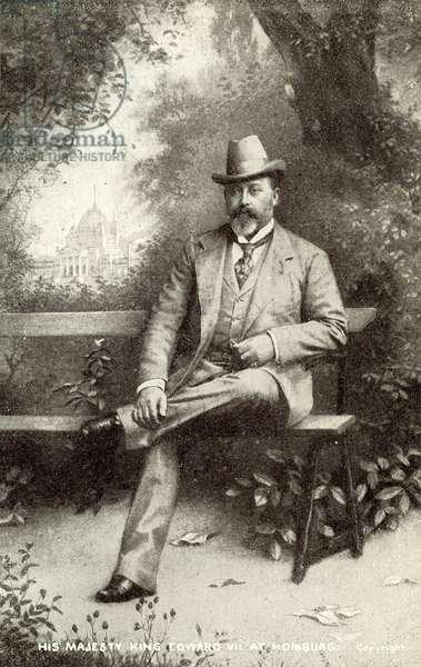 King Edward VII at Homburg (litho)