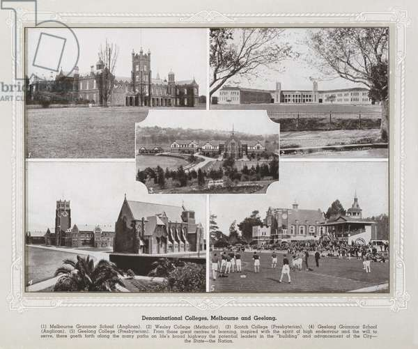 Denominational Colleges, Melbourne and Geelong (b/w photo)