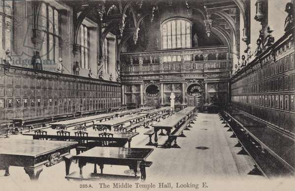 The Middle Temple Hall, Looking East (b/w photo)