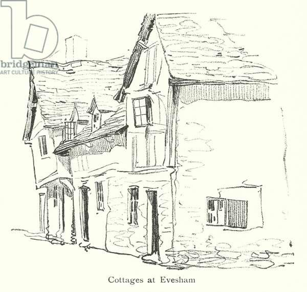 Cottages at Evesham (litho)