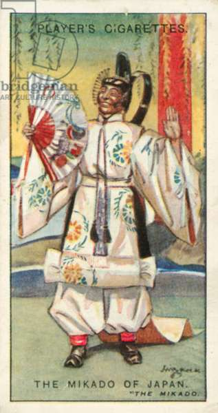 Gilbert and Sullivan, The Mikado of Japan, The Mikado (colour litho)