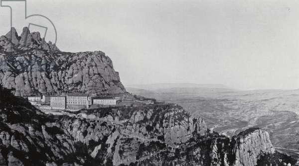 General view of Montserrat (b/w photo)