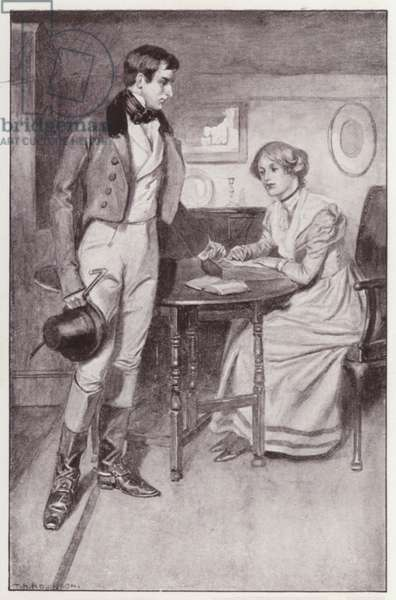 Illustration for Shirley by Charlotte Bronte (litho)