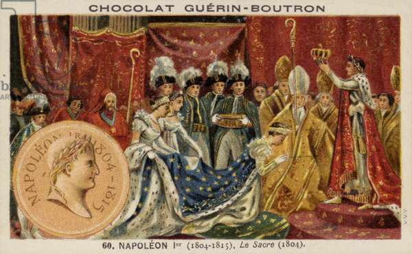 The coronation of Napoleon as emperor, 1804 (chromolitho)