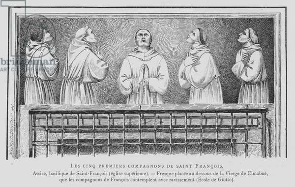 The first five companions of St Francis of Assisi (litho)