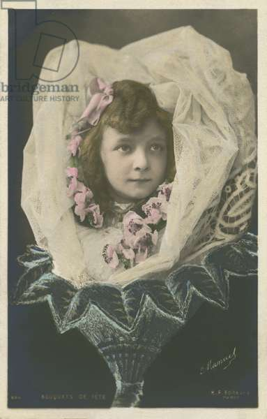 Girl in a flower (colour photo)