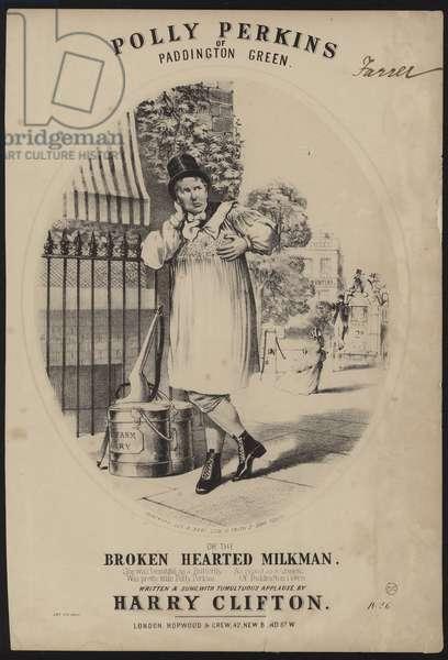 Polly Perkins of Paddington Green or the Broken Hearted Milkman (litho)
