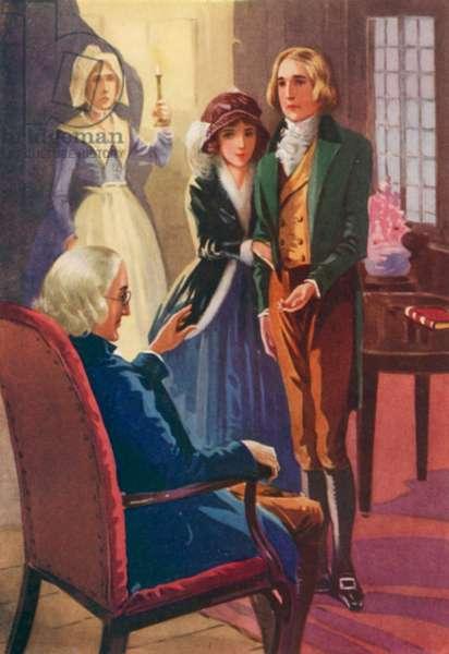 Illustration for John Halifax Gentleman by Dinah Maria Mulock (colour litho)