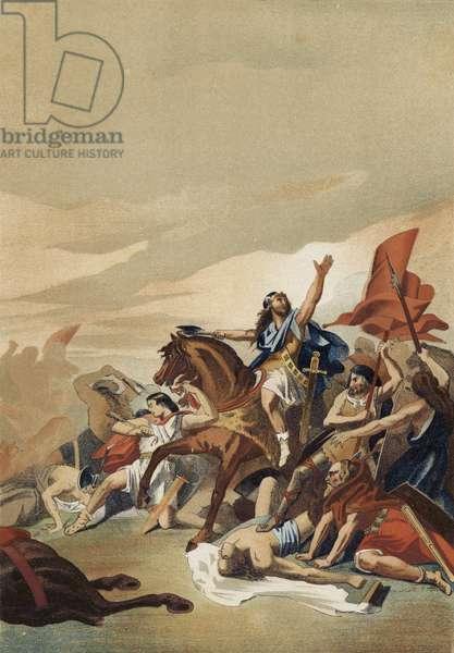 Battle of Tolbiac, 496 (chromolitho)