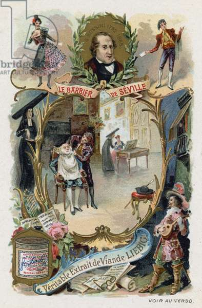 The Barber of Seville, by Gioachino Rossini (chromolitho)