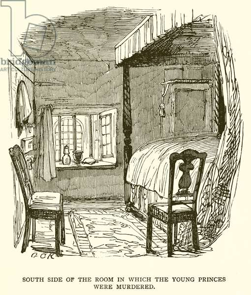 South Side of the Room in which the Young Princes were Murdered (engraving)