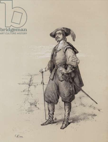 Charles I, King of England, Scotland and Ireland, 1641 (litho)