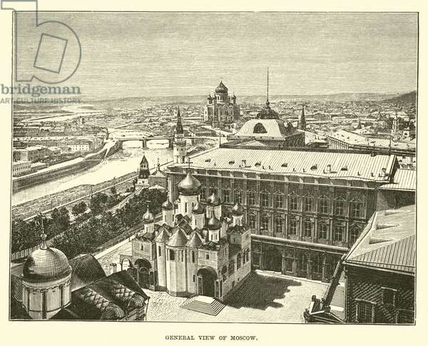 General view of Moscow (engraving)