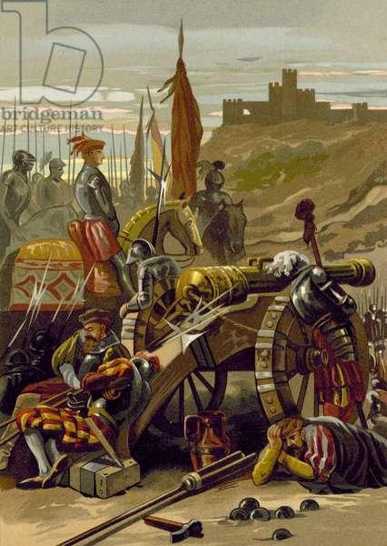 Siege of Gaeta, Italy (chromolitho)
