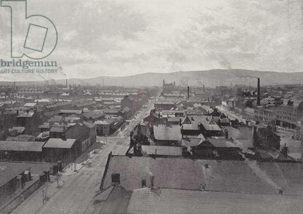 Belfast, Panoramic View (b/w photo)