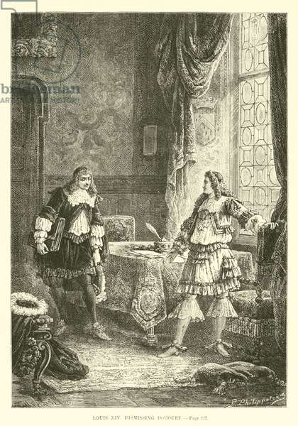 Louis XIV dismissing Fouquet (engraving)