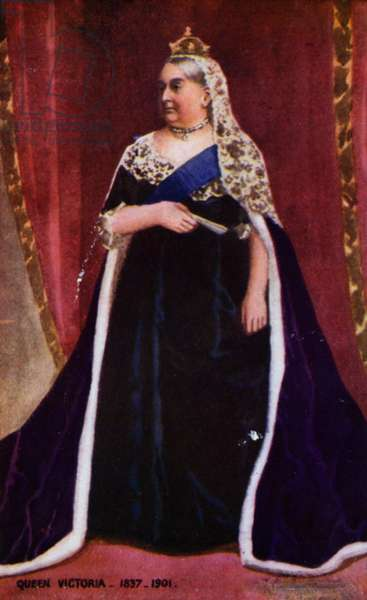 Queen Victoria (colour litho)