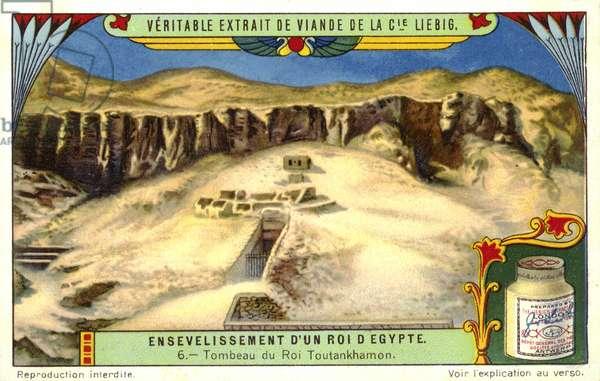 Tomb of the Ancient Egyptian pharaoh Tutankhamun, Valley of the Kings, Egypt (chromolitho)